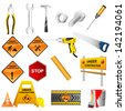easy to edit vector illustration of Construction Tools - stock vector