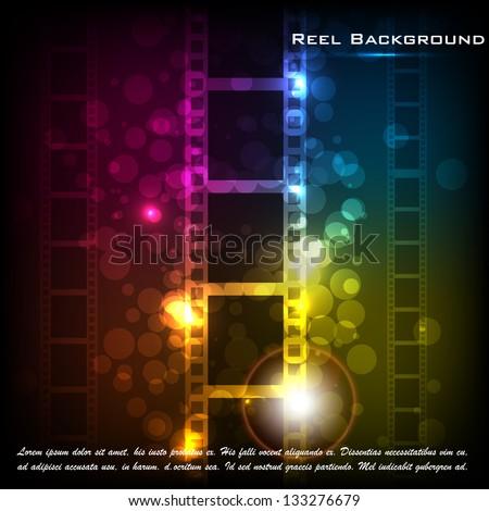 easy to edit vector illustration of film stripe background - stock vector