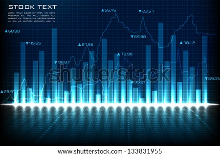 easy to edit vector illustration of financial graph chart - stock vector