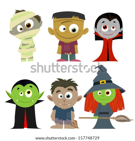 easy to edit vector illustration of Halloween character - stock vector