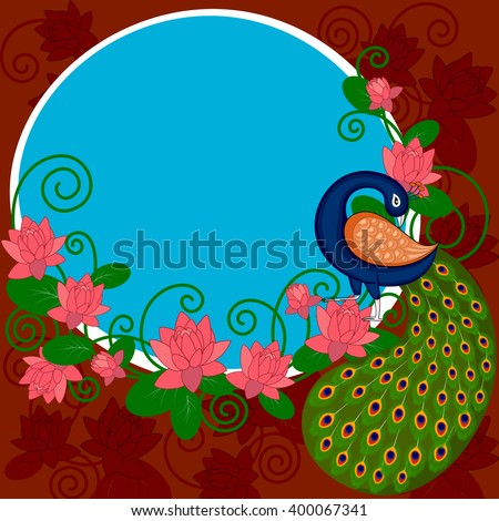easy to edit vector illustration of Indian Art background - stock vector