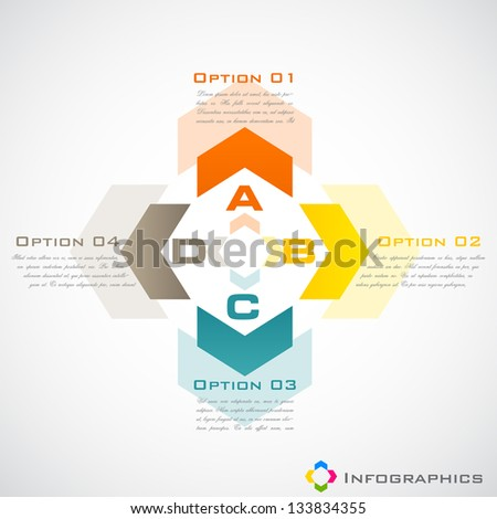 easy to edit vector illustration of infographic background - stock vector