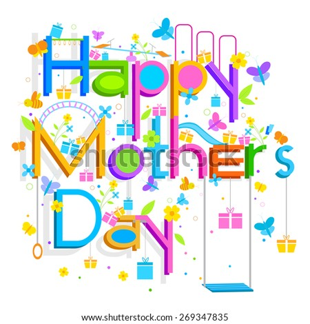 easy to edit vector illustration of Mother's Day Background - stock vector