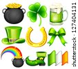 easy to edit vector illustration of Saint Patrick's Day object - stock