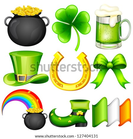 easy to edit vector illustration of Saint Patrick's Day object - stock vector