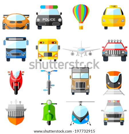 easy to edit vector illustration of transport icon - stock vector