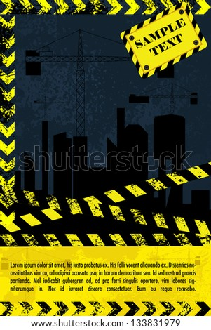 easy to edit vector illustration of under construction design - stock vector