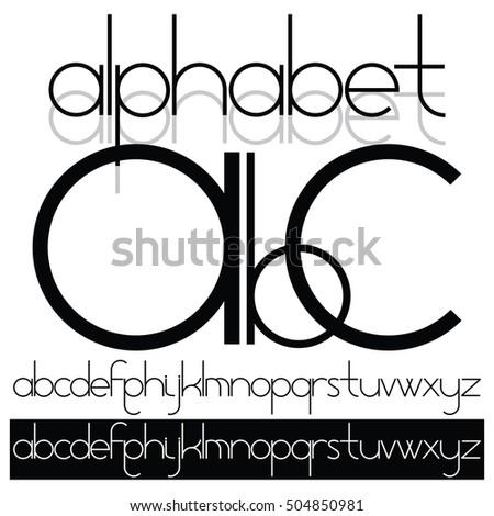 Easy Transparent Font Alphabet Character Set Up Of A Combination Circular Elements
