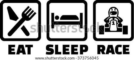 eat sleep race logo - photo #9