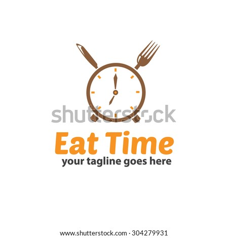 Eat Time Logo Template - stock vector