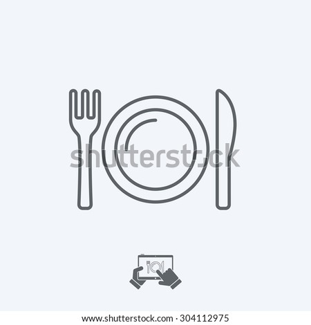 Eatery icon - Thin series - stock vector