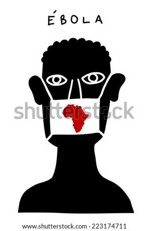 Ebola poster - stock vector