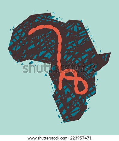 Ebola Virus in Africa. Vector Illustration - stock vector