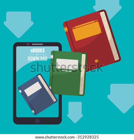 Ebook and smartphone design, vector illustration 10 eps graphic - stock vector