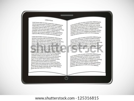 ebook download over gray background. vector illustration