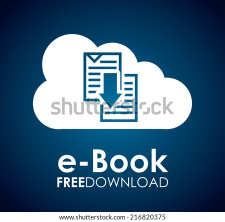 ebook graphic design  ,vector illustration - stock vector