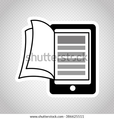Ebook icon design  - stock vector
