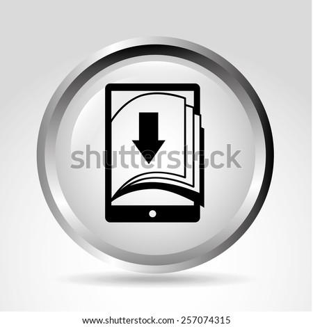 ebook icon design, vector illustration eps10 graphic  - stock vector