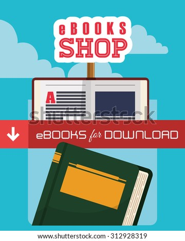 Ebook with cloud design, vector illustration 10 eps graphic
