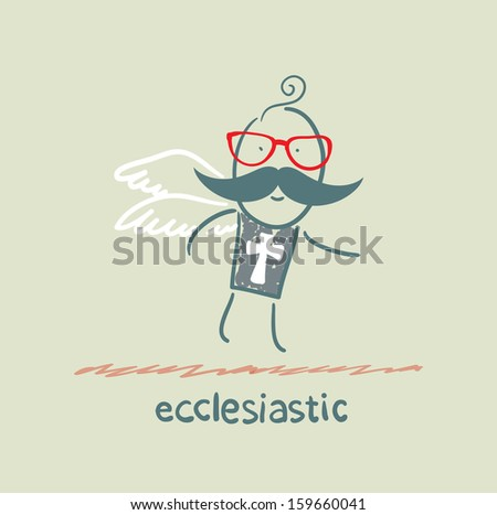ecclesiastic flies - stock vector