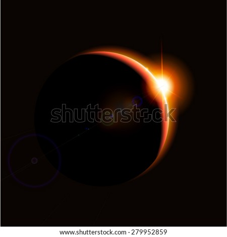 Eclipse - stock vector