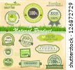 Eco And Bio Labels set - stock vector