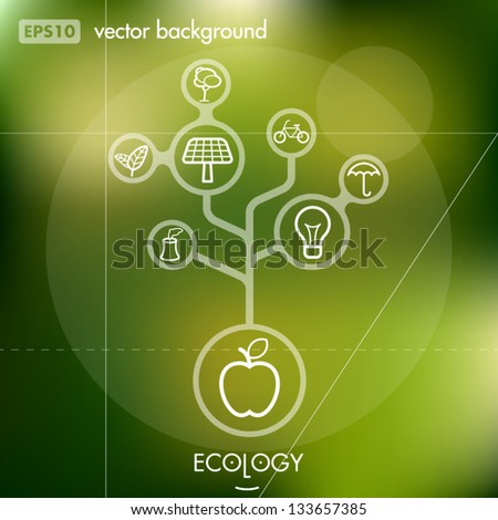 Eco and Environment Creative Icon Background Concept - stock vector