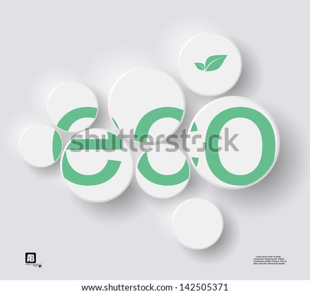 Eco background - stock vector