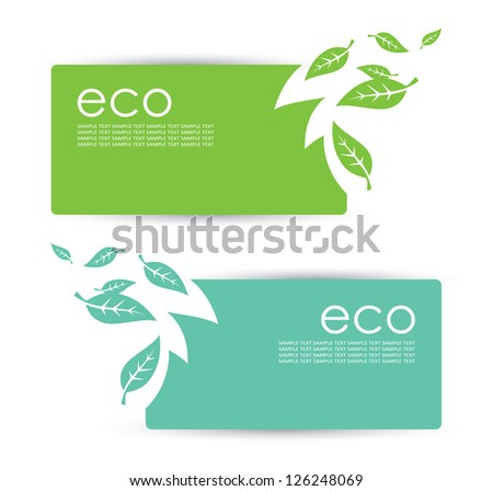 Eco banners - vector illustration - stock vector