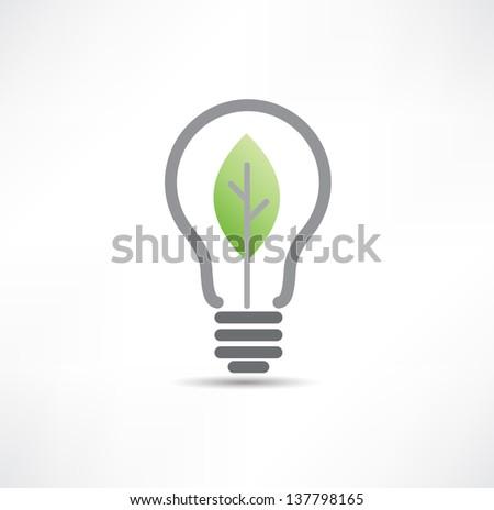 Eco bulb icon - stock vector