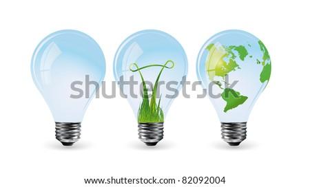 Eco bulbs 2 - stock vector
