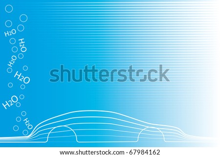 eco car - stock vector