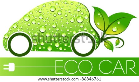 Eco car concept. Graphic Design Editable For Your Design. - stock vector