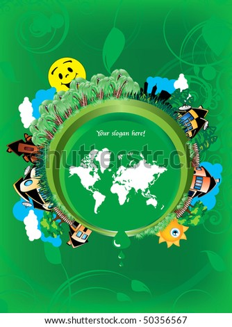 Eco cartoon world