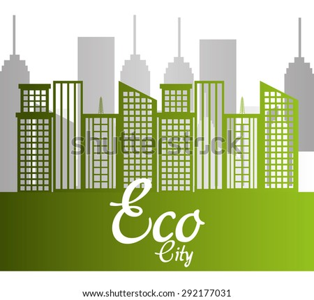 Eco city design, vector illustration eps 10.