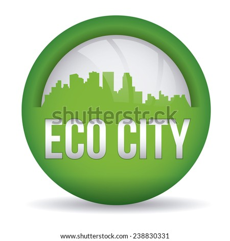 eco city design, vector illustration eps10 graphic  - stock vector