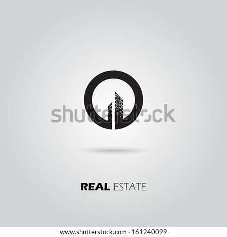 Eco City Real Estate icon. Vector design - stock vector