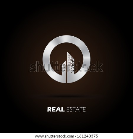 Eco City Real Estate icon. Vector design - stock vector