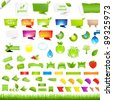 Eco Collection Design Elements, Isolated On White Background, Vector Illustration - stock vector