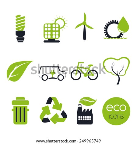 eco concept design, vector illustration eps10 graphic  - stock vector