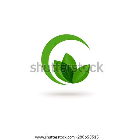 Eco concept with leaf abstract - stock vector