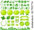 eco decoration - stock vector