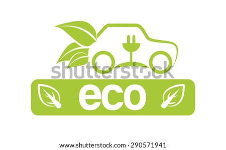 Eco design over white background, vector illustration