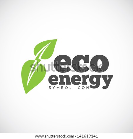 Eco energy symbol icon/ logo template - stock vector