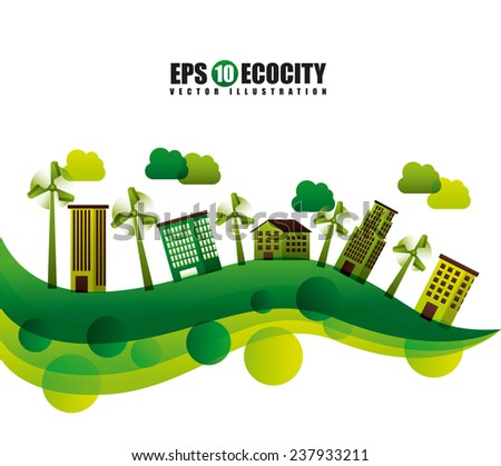 eco friendly - stock vector