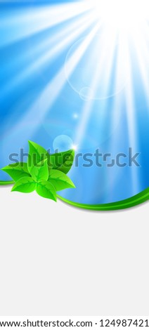 Eco-friendly abstract background. Vector illustration