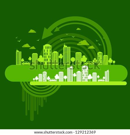 eco friendly concept - stock vector
