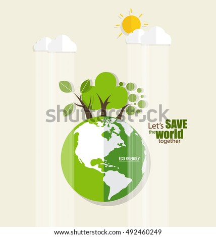 eco friendly ecology concept recycle symbol stock vector 520129024 shutterstock. Black Bedroom Furniture Sets. Home Design Ideas