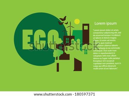 Eco friendly green template - stock vector