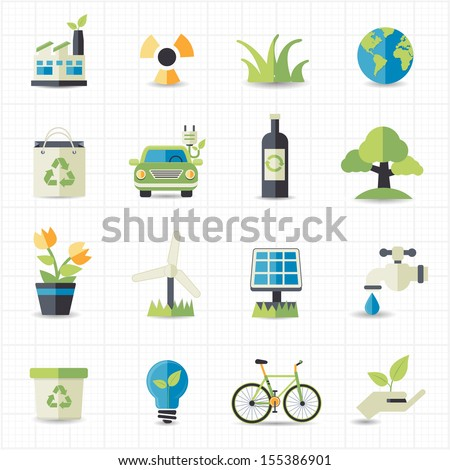 Eco friendly icons - stock vector